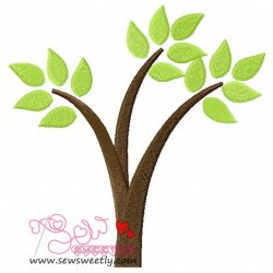 Retro Tree-1 Embroidery Design