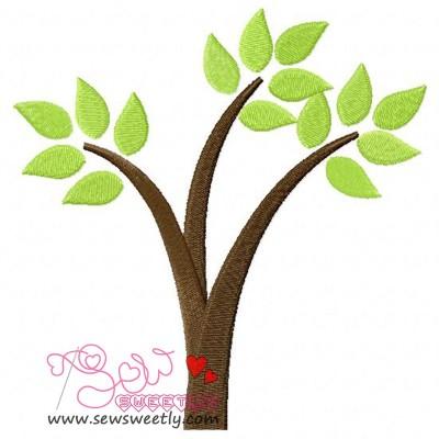 Retro Tree-1 Embroidery Design
