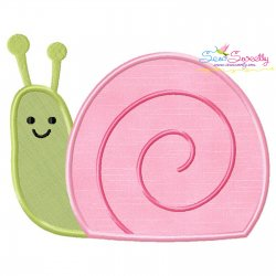 Spring Snail Applique Design