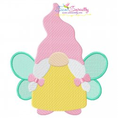 Spring Gnome Fairy Embroidery Design