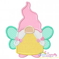 Spring Gnome Fairy Applique Design