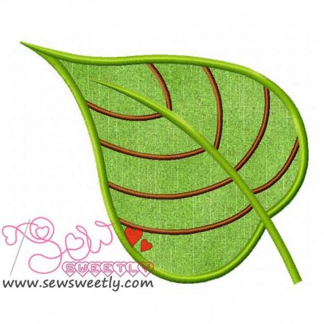 Green Leaf Machine Applique Design For Summer