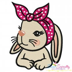 Bandana Easter Bunny Embroidery Design