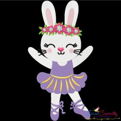 Easter Bunny Ballerina Embroidery Design Pattern- Category- Easter Designs- 1
