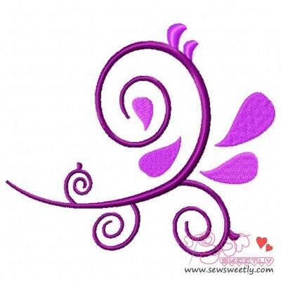 Decorative Swirl Embroidery Design