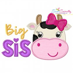 Cow Big Sis Applique Design