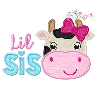 Cow Lil Sis Applique Design