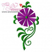 Floral Art-4 Embroidery Design