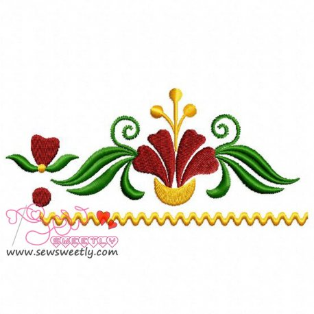 Floral Border-1 Embroidery Design