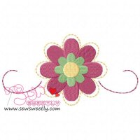 Flower-1 Embroidery Design
