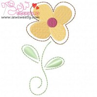 Flower-2 Embroidery Design