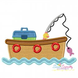 Fishing Boat Applique Design