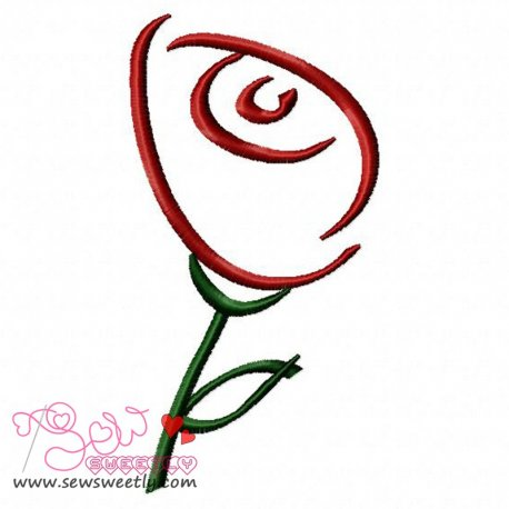 Rose-1 Embroidery Design
