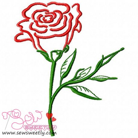 Rose-2 Embroidery Design