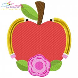 Apple Pencil Flower Embroidery Design