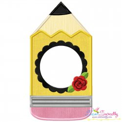 Pencil Frame Applique Design
