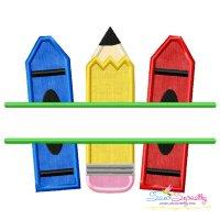 Pencil Crayon Split Applique Design