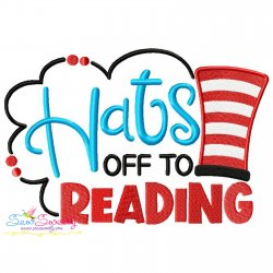 Hats off To Reading American Theme School Lettering Embroidery Design