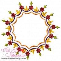 Floral Frame-3 Embroidery Design