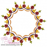 Floral Frame-3 Embroidery Design