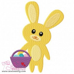 Easter Bunny And Egg-4 Embroidery Design