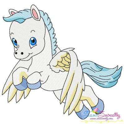 Cute Pegasus Boy-3 Embroidery Design