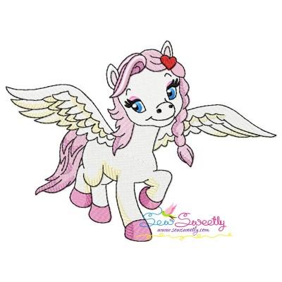 Cute Pegasus Girl-2 Embroidery Design