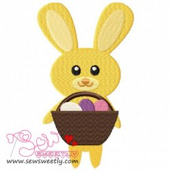 Easter Bunny And Egg-10 Embroidery Design