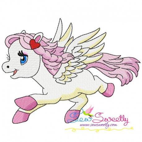 Cute Pegasus Girl-1 Embroidery Design