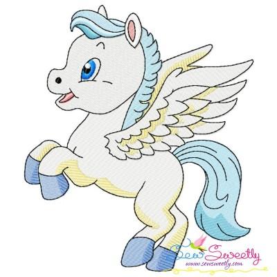 Cute Pegasus Boy-1 Embroidery Design