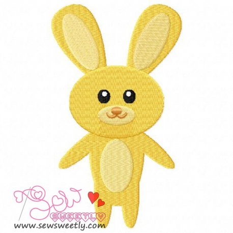 Easter Bunny-1 Embroidery Design Pattern- Category- Easter Designs- 1