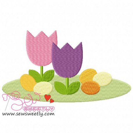 Easter Eggs-1 Embroidery Design