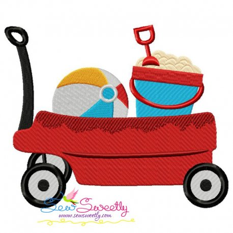Summer Wagon Embroidery Design