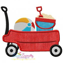 Summer Wagon Applique Design
