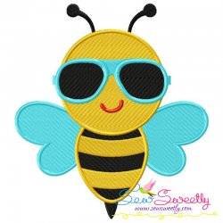 Summer Bee Embroidery Design
