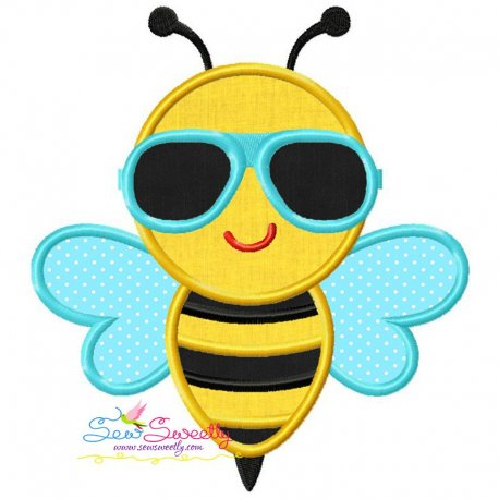 Summer Bee Applique Design
